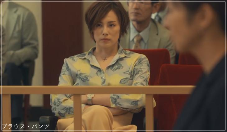 リーガルV[2話]米倉涼子の服のブランド!Tシャツにアクセサリーも!a13