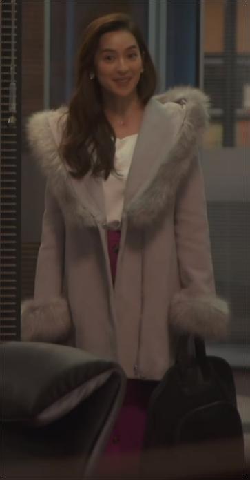 スーツ[9話] 中村アンの衣装のブランド!ファーコートにワンピースも!14