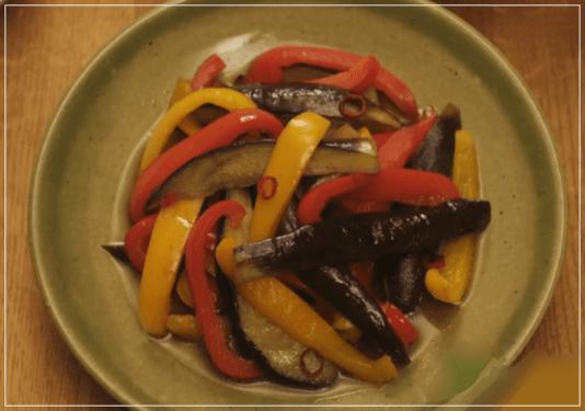 きのう何食べた?[8話]レシピ!シロさんのなすとパプリカのいため煮1