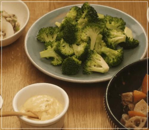 きのう何食べた?[8話]レシピ!ブロッコリーの梅わさびマヨネーズ1