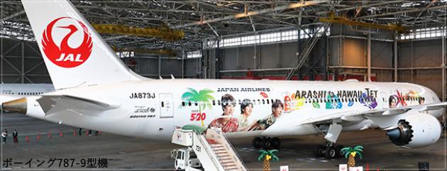 JAL嵐ハワイジェット2019!機体の塗装とフライトスケジュール!