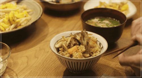 きのう何食べた?[1話]レシピ!シロさんの鮭とごぼうの炊き込みご飯1