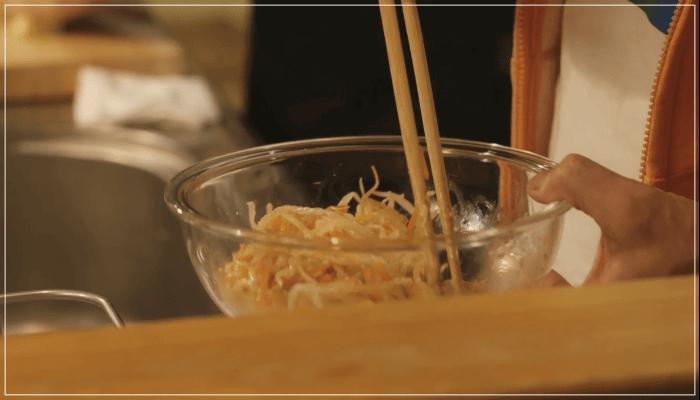 きのう何食べた?12話(最終回)レシピ!にんじんともやしのナムル4