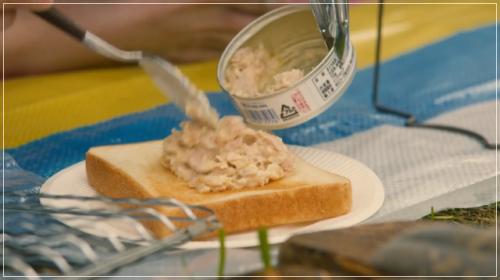 凪のお暇[2話]レシピ!ゴンのツナ缶のっけトースト・ツナマヨチーズ