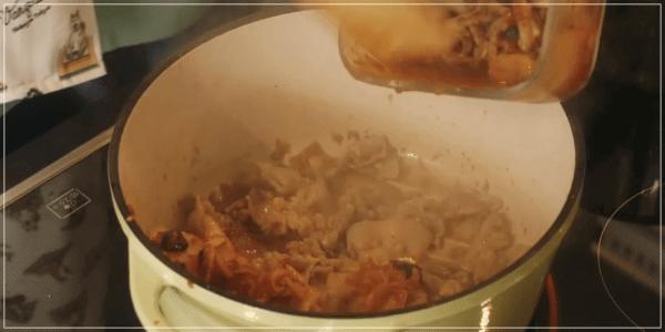 きのう何食べた?2020元旦スペシャル[レシピ]ジルベールのキムチチゲ5