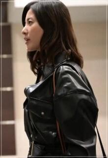 危険なビーナス【6話】吉高由里子の衣装!レザージャケットやバッグ1