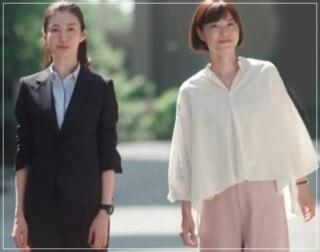 監察医朝顔2【4話】上野樹里の衣装!ブラウスやスカートにバッグ4